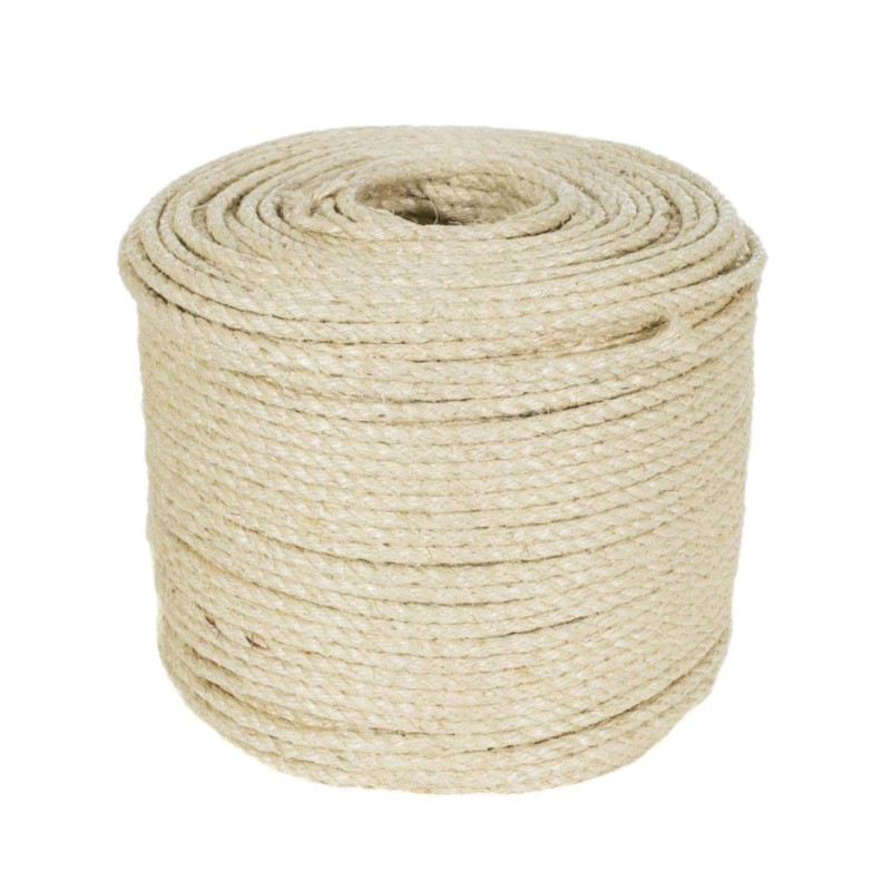 3/5M Natural Sisal Rope Cat Scratching Post Toys Making DIY Desk Foot Chair Legs Binding Rope Material For Cat Sharpen Claw(China)