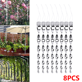 8pcs Bird Repeller Rotating Rod Spiral Reflective Environmental Crop Protection Pigeons Scare Rods