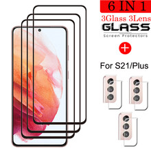 Gehärtetem Glas Für Samsung Galaxy S21 Screen Protector Explosion-proof Glas Für Samsung S21 Plus Kamera Film Für S21 plus