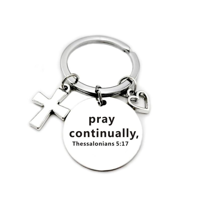 Подвеска-брелок из нержавеющей стали в виде креста с христианскими искусственными сердцами