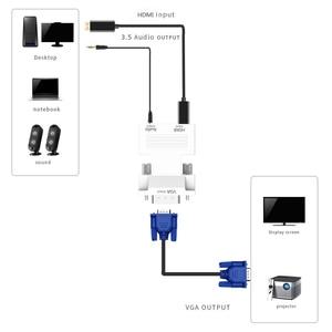 Image 5 - Nữ HDMI Đực Sang VGA Có Âm Thanh Adapter Hỗ Trợ 1080P Tín Hiệu Đầu Ra Cho Đa Phương Tiện