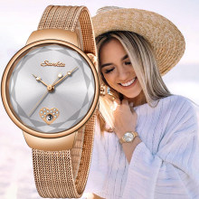 SUNKTA Brand Luxury Watch Women Fashion Dress Quartz Wrist Watch Ladies Stainless Steel Waterproof Watches Relogio Feminino+Box(China)