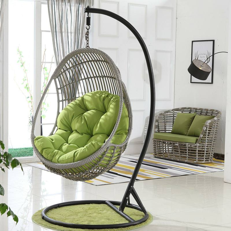 Egg Chair Swing Hammock Cushion Hanging Basket Cradle Rocking Chair Cushion Garden Outdoor Indoor Home Decor Without Swing Chair