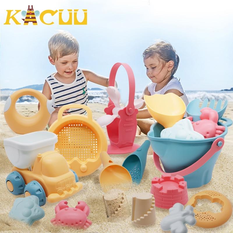 Летние Силиконовые Мягкие Детские пляжные игрушки, детская пляжная игрушка, детский набор песчаных боксов, летняя игрушка для пляжа, игрушк...