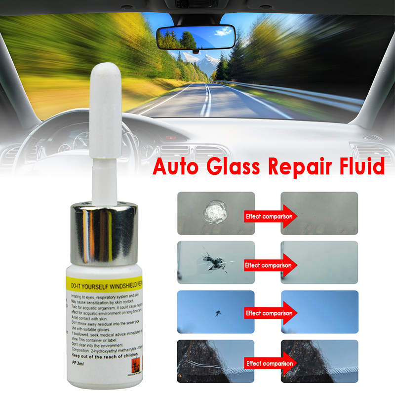 Car Accessories Auto Glass Repair Fluid Cracked Glass Repair Kit Windshield Kits Cars Window Tools Glass Scratch Cleaner