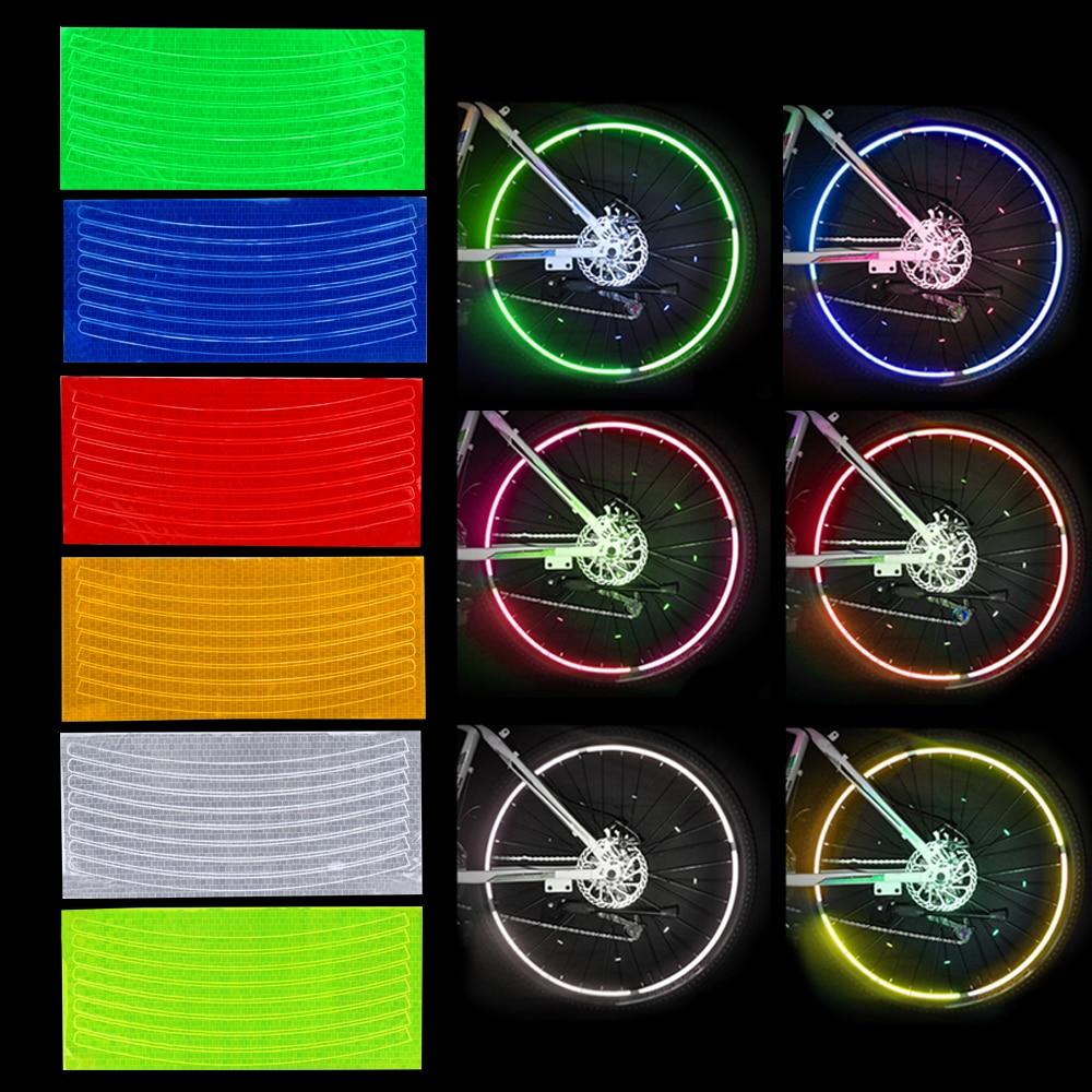 YOSOLO Wheel Sticker Motorcycle Bicycle Reflector Rim Decal Bike Cycling Security Wheel Reflective Sticker