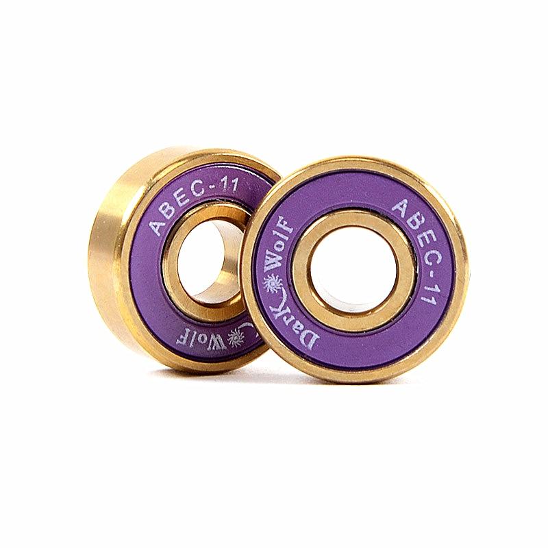 8pcs Skateboard Ball Bearings ABEC-11 608 2RS Deep Groove Raceway Wheel Bearing Pro Skating Cr Mo Steel + Titanium