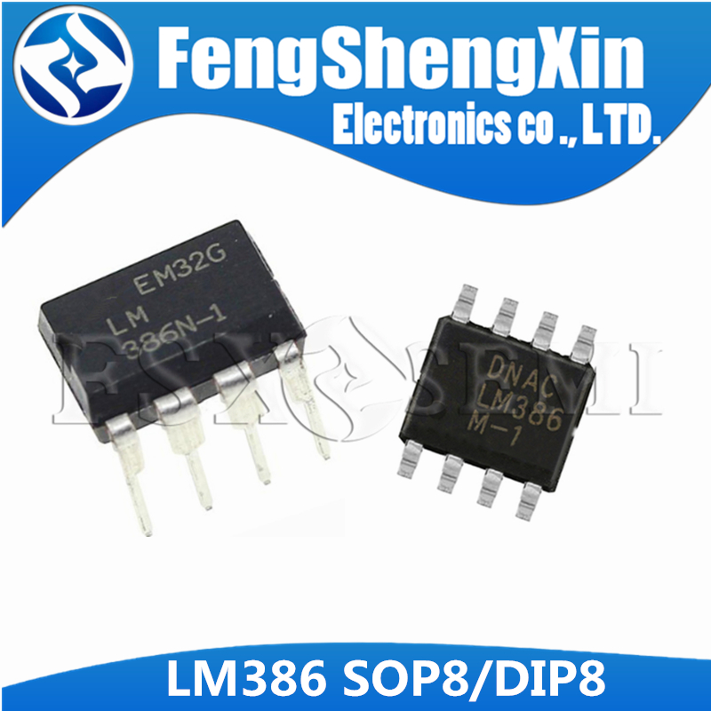 10pcs/lot New LM386 DIP SOP LM386N-1 LM386M-1 SOP8 LM386M-82 LM386N DIP8 LM386-1 Low Voltage Audio Power Amplifier IC