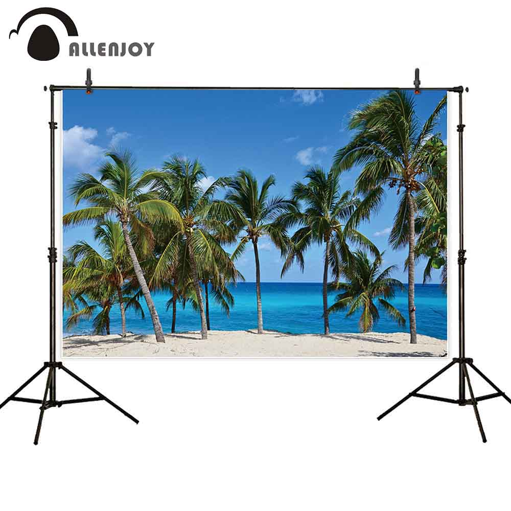 Allenjoy summer photo background Cuba beach sea tropical tree Hawaii landscape studio photography photophone photocall backdrop image