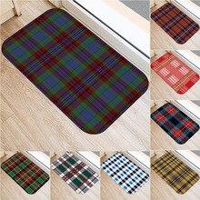 1 40x60cm Classic Casual Plaid Striped Floor Mat Kitchen and Living Room Bedroom Floor Non slip Suede Carpet Door Mat Floor Mat.