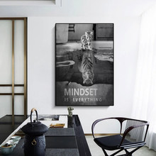 Denkweise Tiger oder Katze Film Poster Cuadros Leinwand Malerei Poster und Wandbild Bild, Home Decor