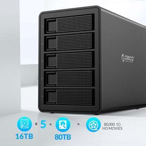Image 2 - ORICO 35 سلسلة المؤسسة 5 خليج 3.5 قاعدة تركيب الأقراص الصلبة USB3.0 إلى SATA مع غارة قالب أقراص صلبة 150 واط الطاقة الداخلية HDD