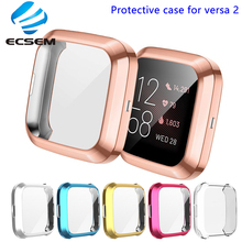 Protective cover for Fitbit versa 2 smart watch case full edged protector anti shock with screen film shell for versa 2