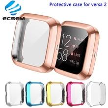 保護カバー fitbit versa 2 smart watch ケースフル刃物プロテクターアンチショックスクリーンフィルムとシェルバーサ 2