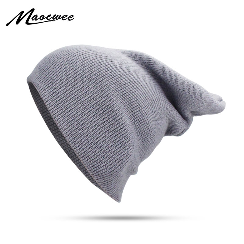 Knitted Beanies Hats Men Women Winter Spring And Autumn Solid Color Hedging Cap Outdoor Sports Thin Windproof Fashion Beanie Hat