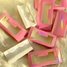 Fdshine новая упаковка розовых ресниц 20 шт/лот 50 мягкая бумажная