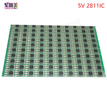 100pcs/pack DC5V ws2811 IC led Circuit Board PCB WS2811 LED RGB Pixel Module IC 12mm led Chip for led Addressable modules