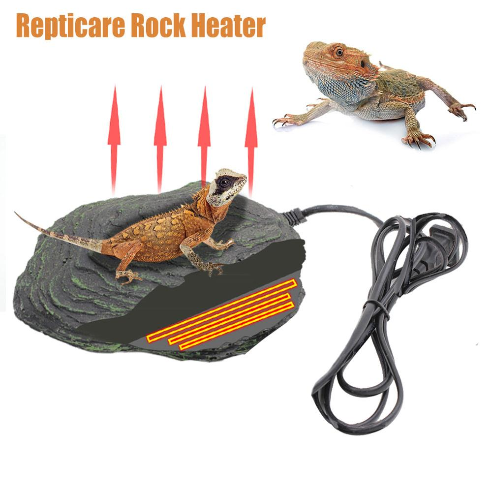 Terrarium Reptile Heating Rock Heating Mat Stone Automatic Constant Temperature Reptile Cave Warmer For Turtles Snakes Reptiles