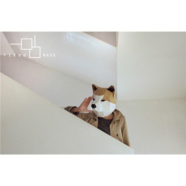 מסכת ראש אוריגמי - כלב 2