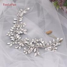 YouLaPan Handmade Wedding Hair Accessories Crystal Brdial Headband Wedding Tiaras Bride Headdress Rhinestone Hair band HP239