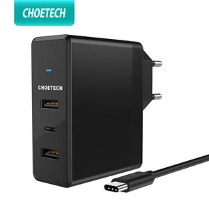 Image 1 - CHOETECH USB Charger 39WสำหรับiPhone 11 Xs X 8 ประเภทC + Dual USB Port Fast ChargerสำหรับSamsung Xiaomi Wall Charger Adapter