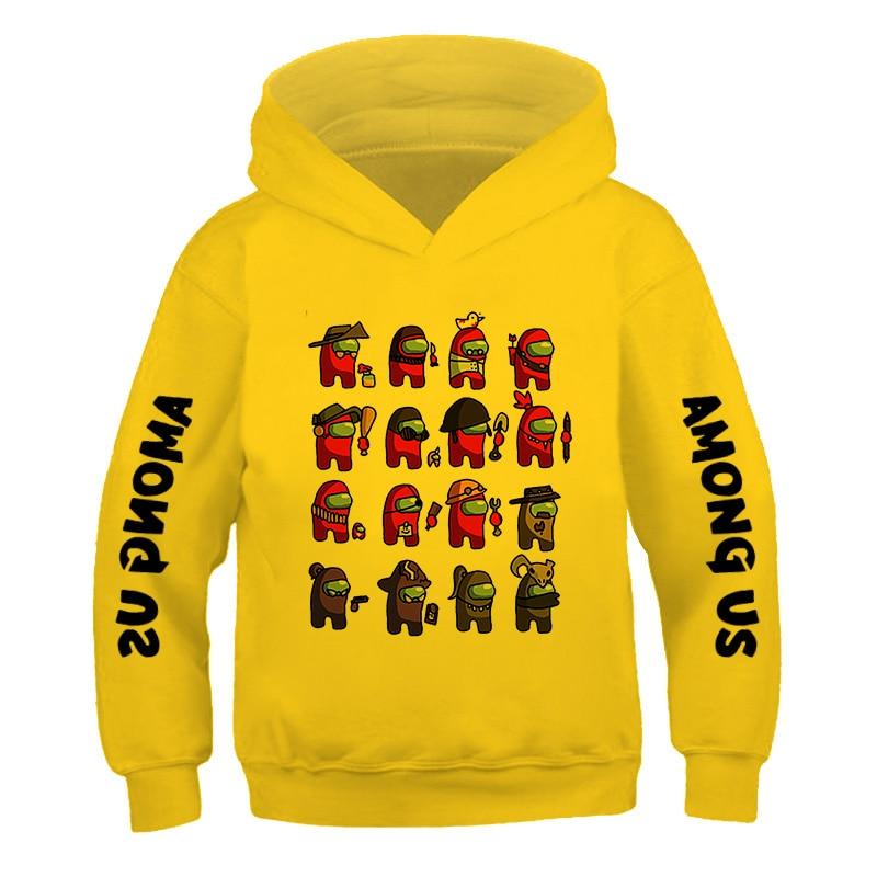 Children's Street Style Games Hip ho 3-14Years Among Us Kids Size comic fashion Hoodie Boys&Girls Long Sleeve Hooded Sweatshirts 2