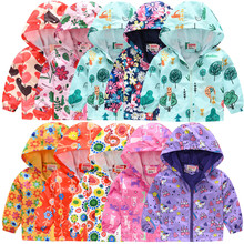 Boys Jackets Hoodies Print-Coat Kids Clothes Windbreaker Baby Girls Waterproof Children