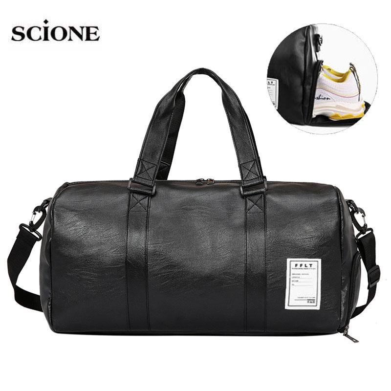 Leather Gym Bags Fitness Training Sports Bag For Men Women Sac De Sport Gymtas Travel Luggage Traveling Outdoor Yoga Bag XA627WA