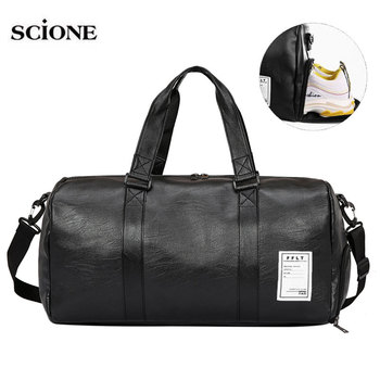 Leather Gym Bags Fitness Training Sports Bag For Men Women Sac De Sport Gymtas Travel Luggage Traveling Outdoor Yoga XA627WA - discount item  66% OFF Sport Bags