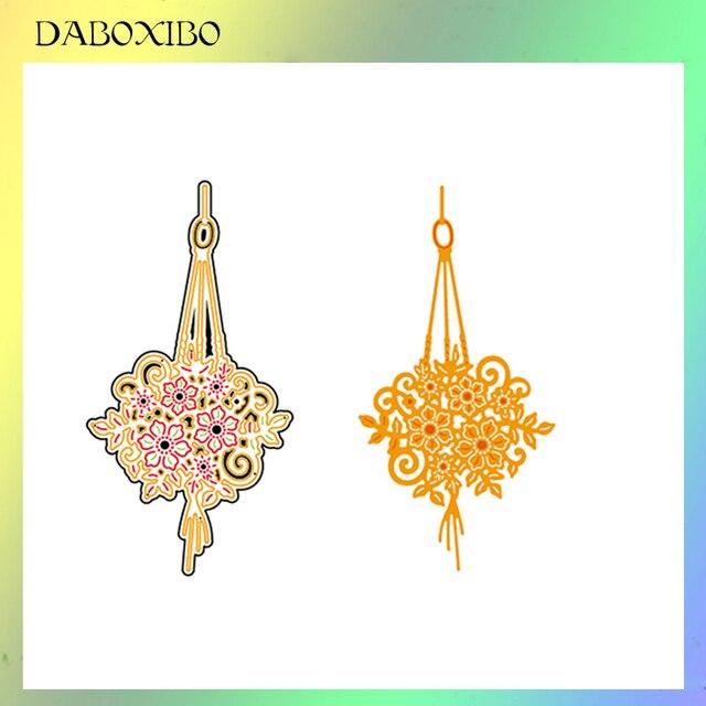 DABOXIBOS-belle fleur rouge en métal | Matrices de découpe, pochoirs pour bricolage Scrapbooking/Album Photo, gaufrage décoratif, artisanat bricolage