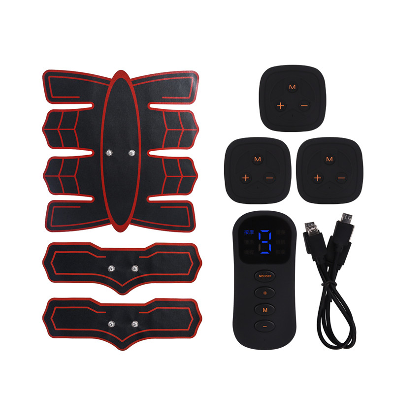 EMS Abdominal Arm Muscle Trainer Smart Fitness Abdominal Muscle Trainer Stimulator Electric Body Slimming Massager ABS Machine 5