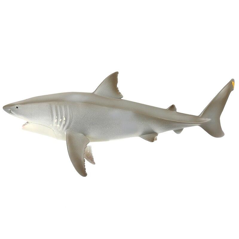 Juguetes antiestrés de tiburón bebé realista juguete de colección de tiburón grande juguete de simulación de movimiento realista modelo de Animal para niños