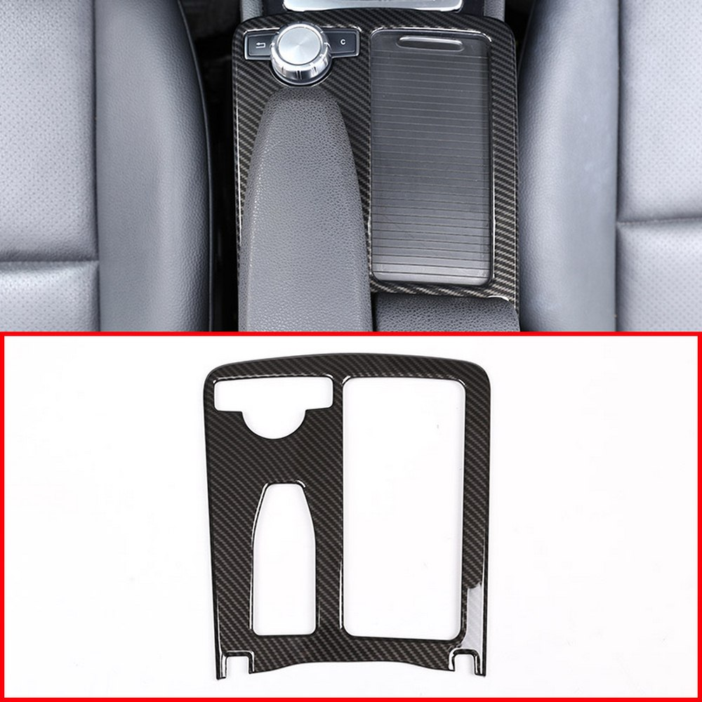 Центральная консоль подстаканник рамка крышка Накладка наклейка для Mercedes Benz C Класс W204 2008-2014 E класс W212 2010-2011