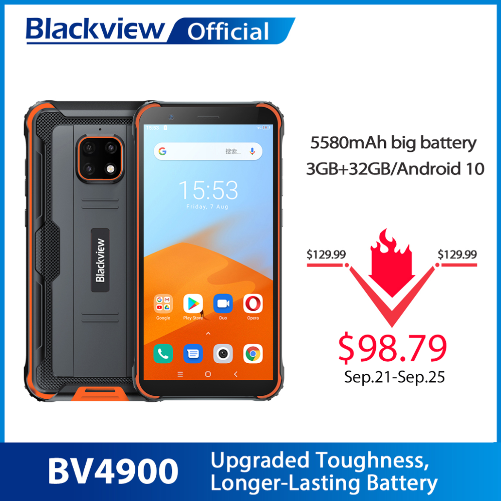 Blackview BV4900 Android 10-Rugged 32GB 3GB CDMA/WCDMA/GSM NFC Quad Core Face Recognition