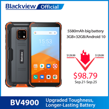 Blackview BV4900 Android 10 Rugged Waterproof Smartphone 3GB+32GB IP68 Mobile Phone 5580mAh 5.7 inch NFC Cellphone(China)