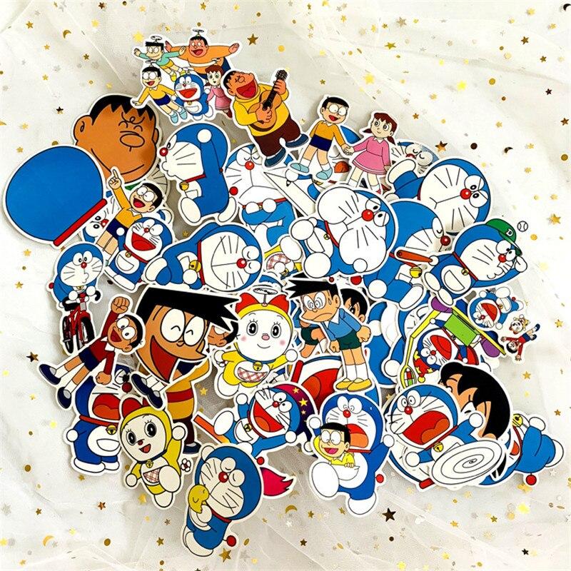 pcs lot anime doraemon stickers nobita nobi minamoto shizuka