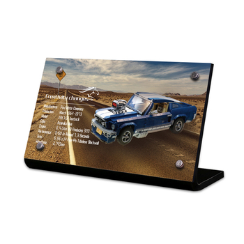 the Acrylic display stand brand for creator 10265 Ford Mustang toys building blocks image