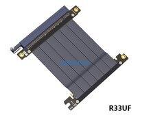PCIE 3,0 Cable adaptador pc e 16X a x16, extensión de tarjetas de vídeo gráficas, diseño en ángulo de 90 grados para chasis de placa base ITX