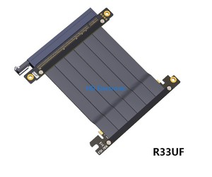 Image 1 - PCIE 3.0 ケーブル Pc e 16X x16 にアダプタケーブルグラフィックスビデオカード延長 90 度アングルデザイン ITX マザーボードシャーシ