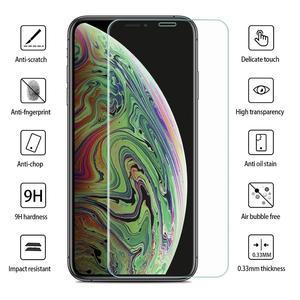 Image 3 - [3 pack] Impactstrong 9H protecteur décran en verre trempé haute définition pour iphone 6 6s 7 8 x xs xr 100% couverture décran