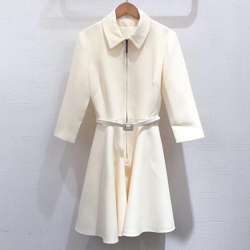 Elegant Mini Dress Women 2019 Autumn Long Sleeve Dress Female Office Wear A line Fashion Dress