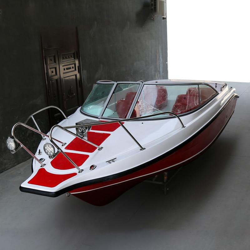 Luxury 6/12 Seats Yacht FRP Speed Boat Speedboat Leisure Boat SEA Fishing Boat Fiberglass Ship High Speed Fishing Vessel