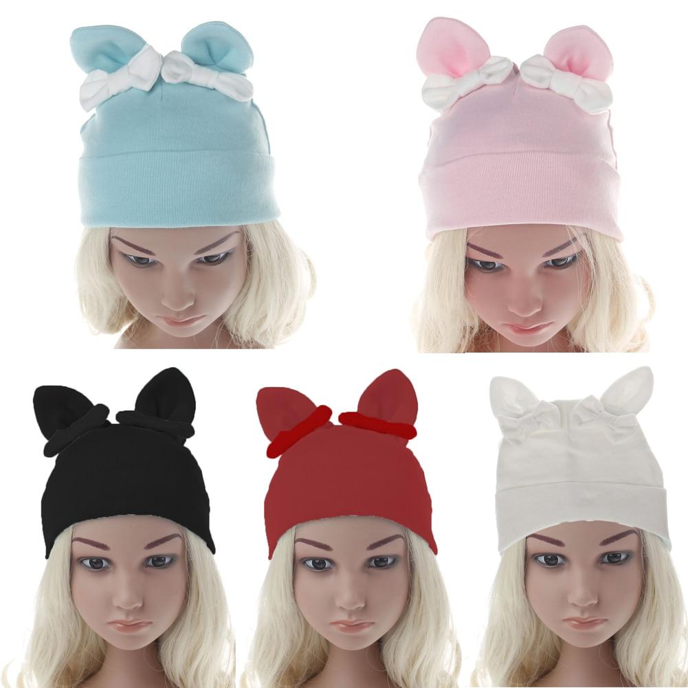 Baby Girls Kids Toddler Bow Knot Hairband Headband Turban Head Wrap Hat Ear Cap