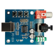 AMS-Pcm2704 Audio Dac Usb To S/Pdif Sound Card Hifi Dac Decoder Board 3.5Mm Analog Coaxial Optical Fiber Output(China)