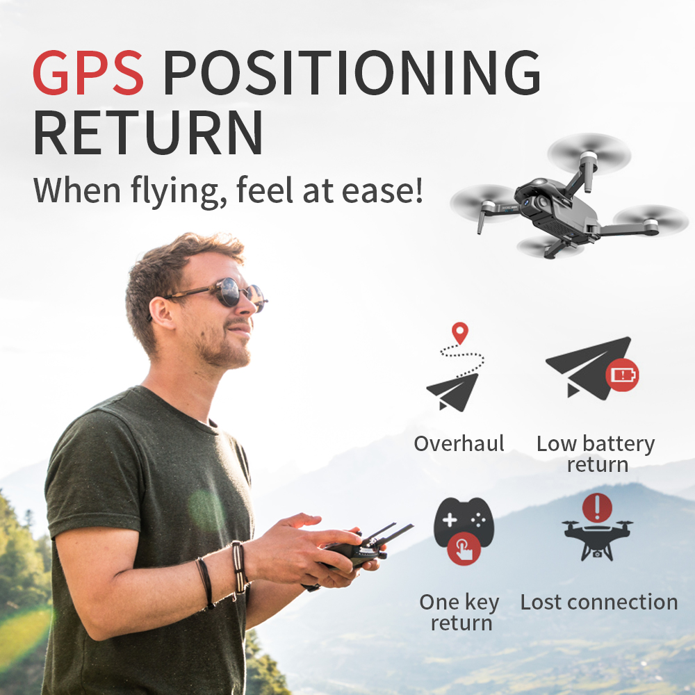 lowest price RC Helicopter KY601S Professional Drone with Camera HD 1080P WIFI FPV Quadcopter Drone Toys for Kids 15 Minutes Playing Time