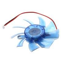 עבור מחשב כרטיס הפלסטיק הכחול 12VDC 75mm VGA וידאו קירור מאוורר למעבד עבור מחשב (4)