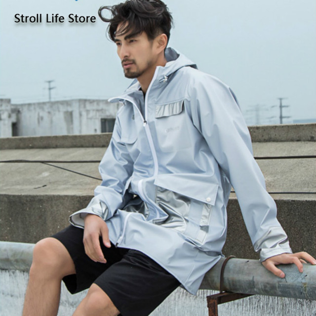 Adult Outdoor Hiking Long Windbreaker Raincoat Waterproof Rain Poncho Sunscreen Rain Jacket Gabardina Hombre Men Gift Ideas