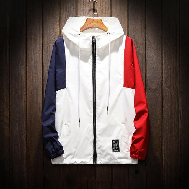 White Zip Men Jacket Coats Spring Slim Fit Hip Hop Bomber Summer Jackets Men Japanese Streetwear Clothes 2019 Military Jacket