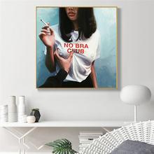 Без бара клуб девушка холст настенные картины художественные