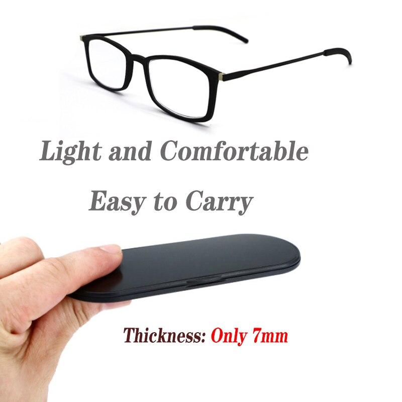 Fashion Thinoptics Reading Glasses For Men Women Ultra-Thin Anti-blue Light Glasses Reading Special Eyeglasses Clear Unisex NEW